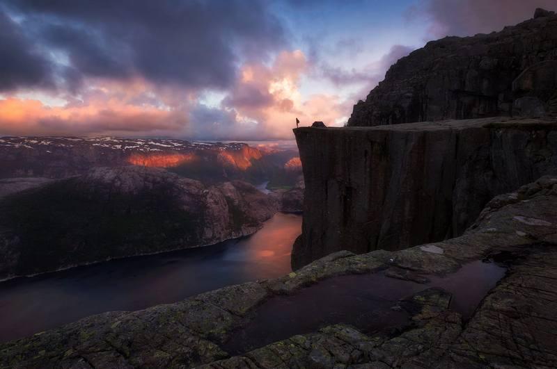 Походы по Норвегии в июне - Прекестулен