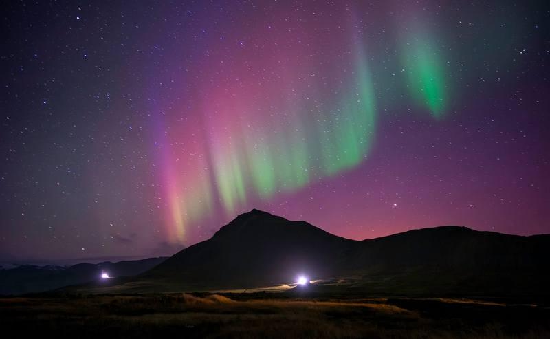 Треккинг по Исландии - северное сияние