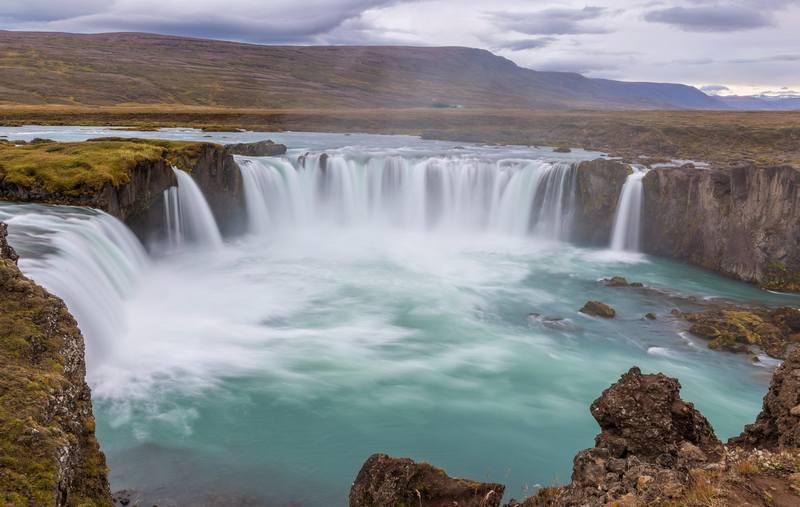 Походы по Исландии в сентябре - водопад