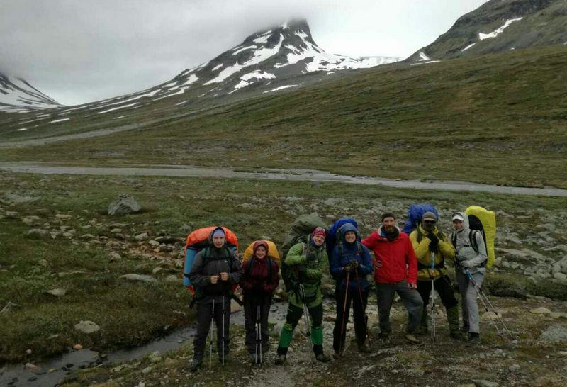 Группа путешественников в Норвегии