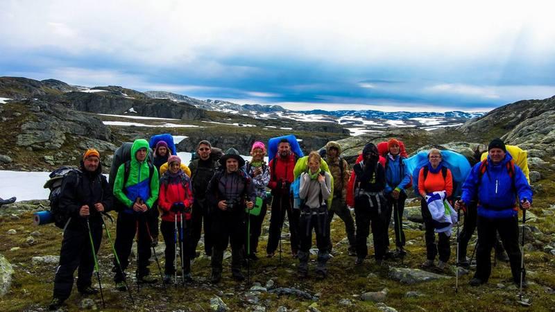 Походная группа в Норвегии