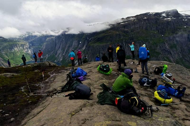 Группа туристов в Норвегии