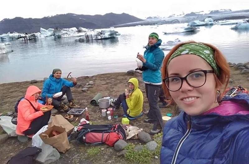Марина Рубан в Ледниковой лагуне